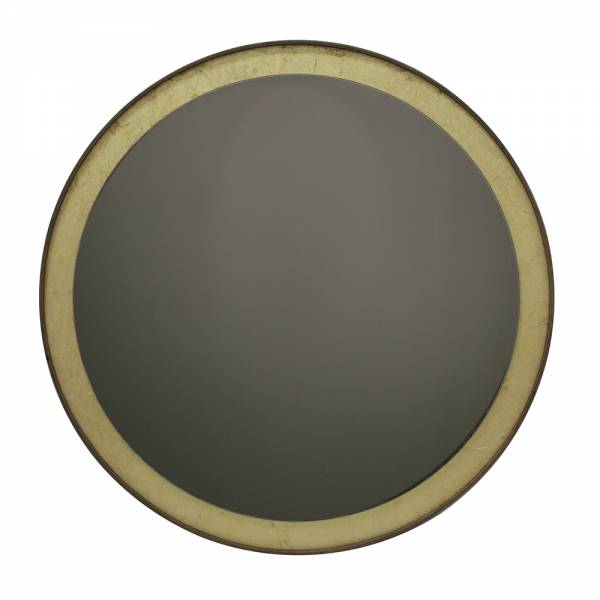 Gold Leaf Round Bronze Wall Mirror