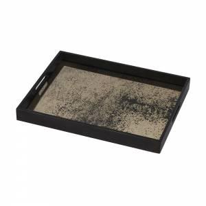 Heavy Aged Bronze Mirror Tray