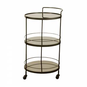 Lucy Bar Cart - 3 Bronze Mirror Shelves