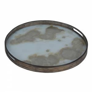 Mist Gold Organic Glass Tray