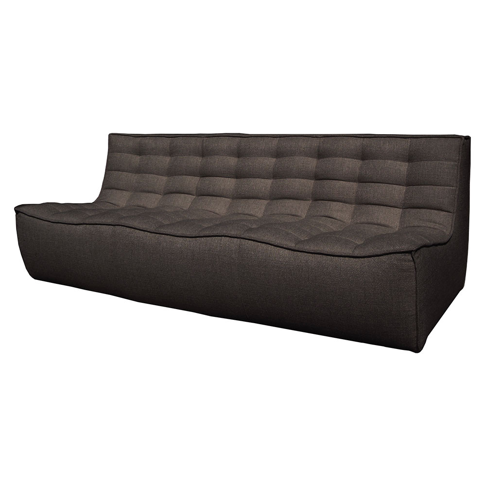 N701 3 Seater Sofa - Dark Gray