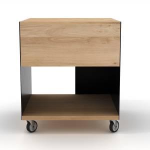 Oak Billy box II - 1 drawer - Black