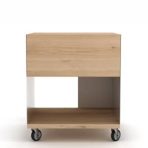 Oak Billy box II - 1 drawer - White