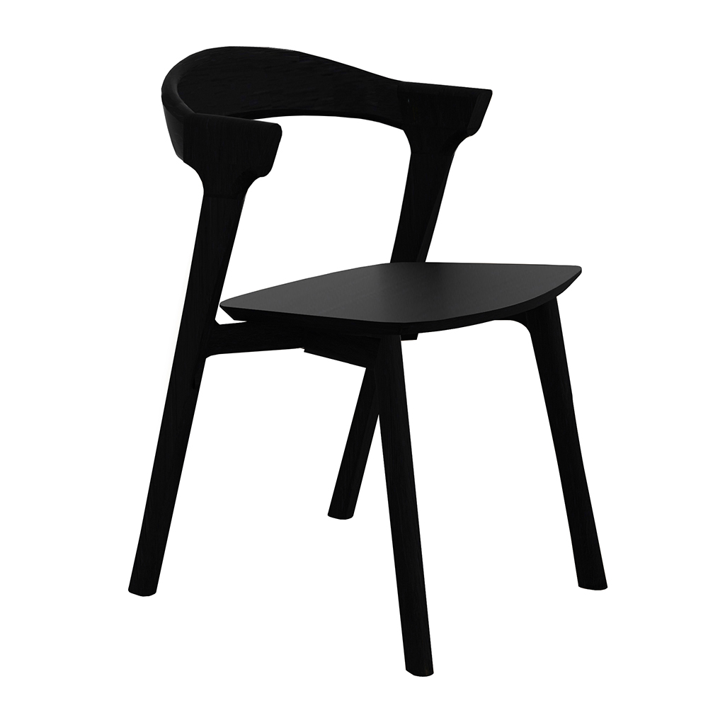 Bok Dining Chair Black Oak