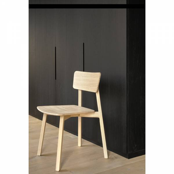 Oak Casale dining chair - without armrest
