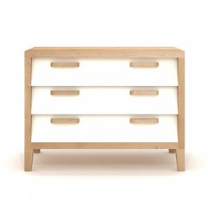 Oak Chest 60'S - 3 drawers - cream