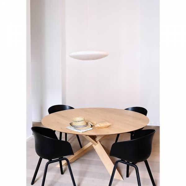 Oak Circle dining table