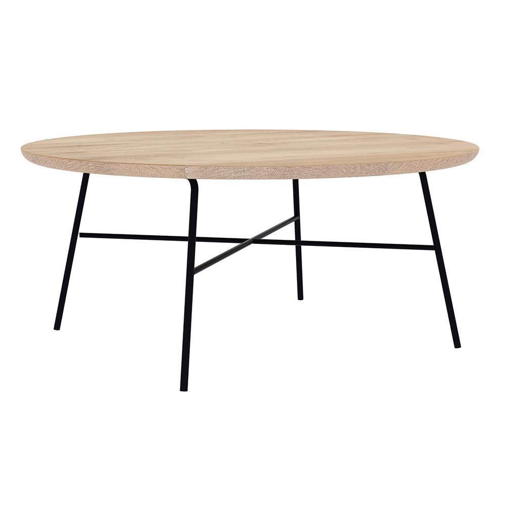 Disc Coffee Table Round Oak