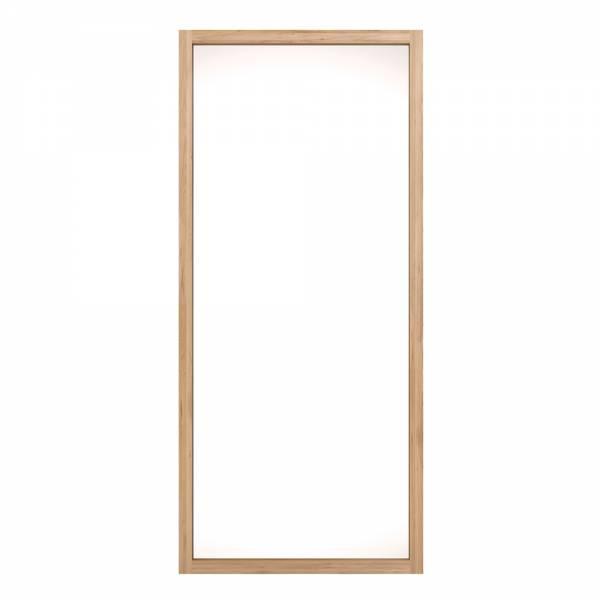 Oak Light Frame mirror tall