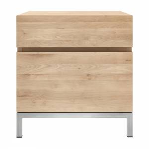 Oak Ligna bedside table - 1 door hinge left - 1 drawer