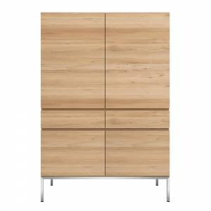Oak Ligna storage cupboard - 4 doors - 2 drawers
