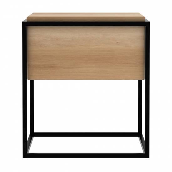 Monolit Bedside Table Black Oak Black Rouse Home