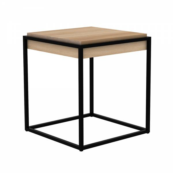 Oak Monolit side table - Black