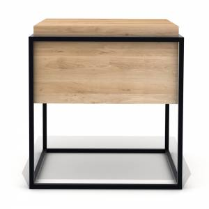 Oak Monolit side table M - Black