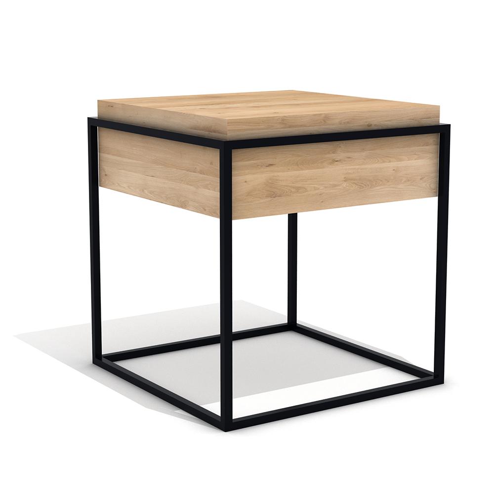 Oak Monolit Side Table S Black