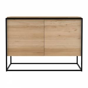 Oak Monolit sideboard - 2 doors - Black