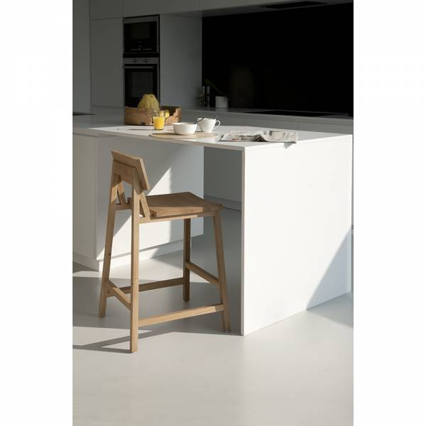 Oak N3 kitchen counter stool - without amrest