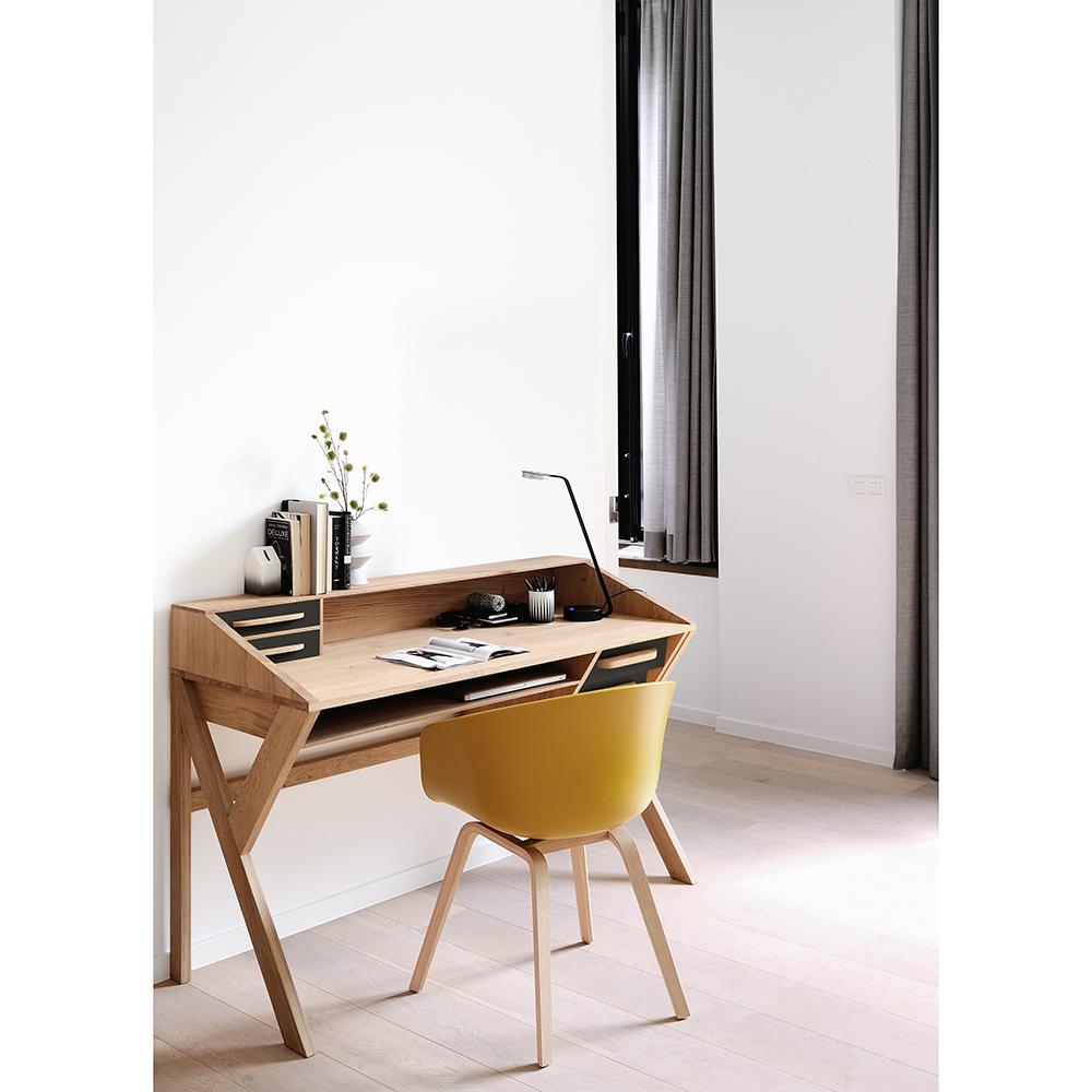 Origami Desk Oakblack Rouse Home