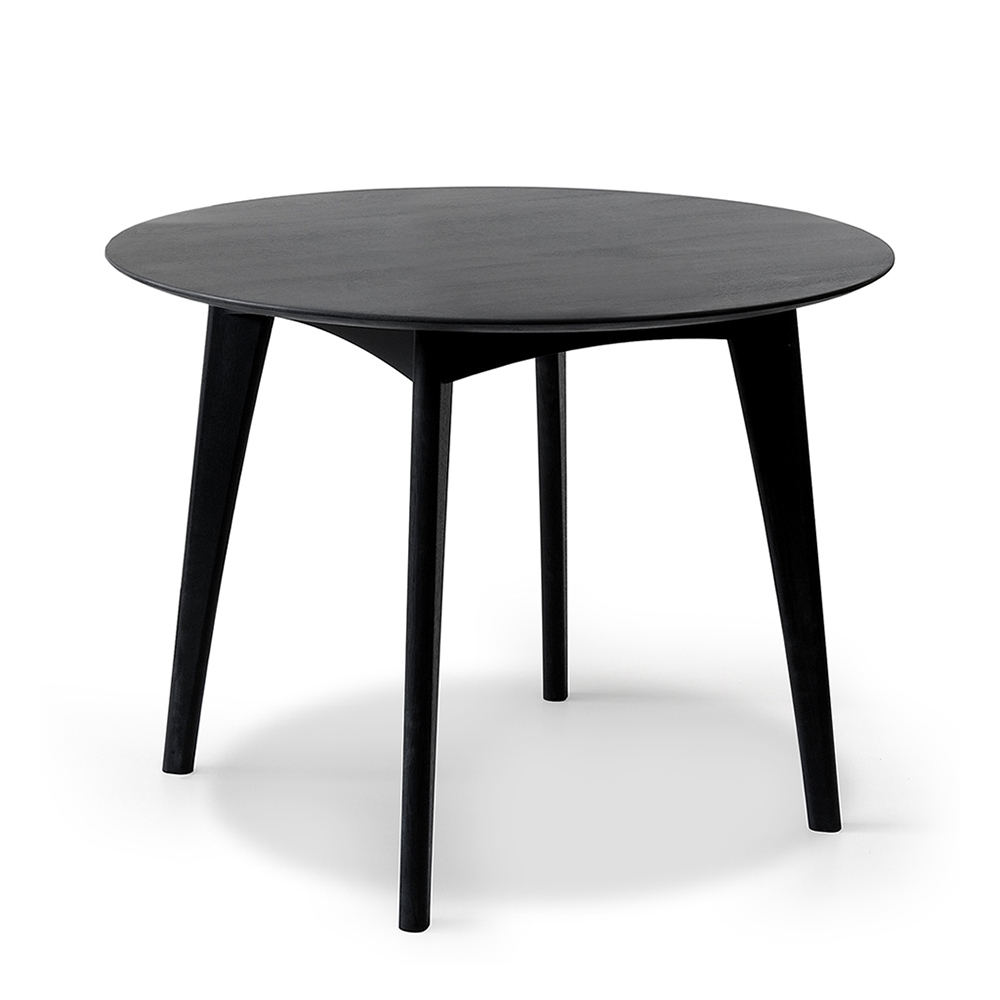Osso Round Dining Table Black Oak