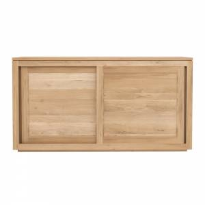 Oak Pure sideboard - 2 sliding doors