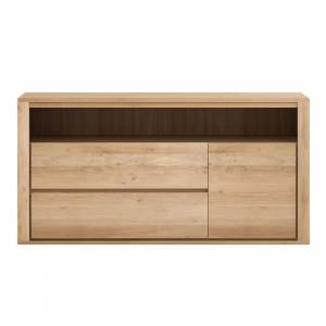 Oak Shadow chest of drawers - 2 drawers - 1 door