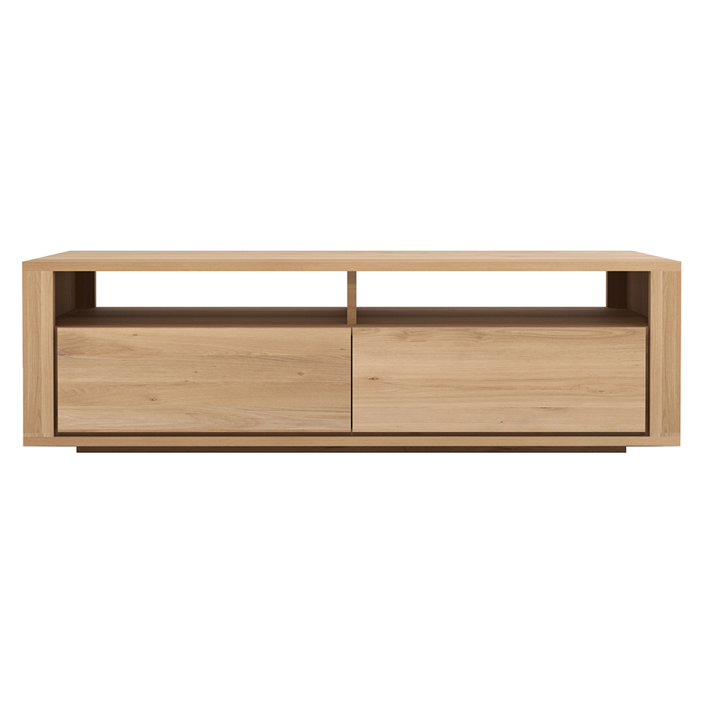Shadow Tv Media Cabinet 2 Drawers Oak