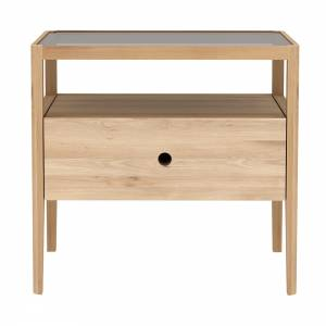 Oak Spindle bedside table - 1 drawer