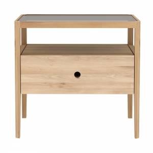 Oak Spindle bedside table - 1 drawer