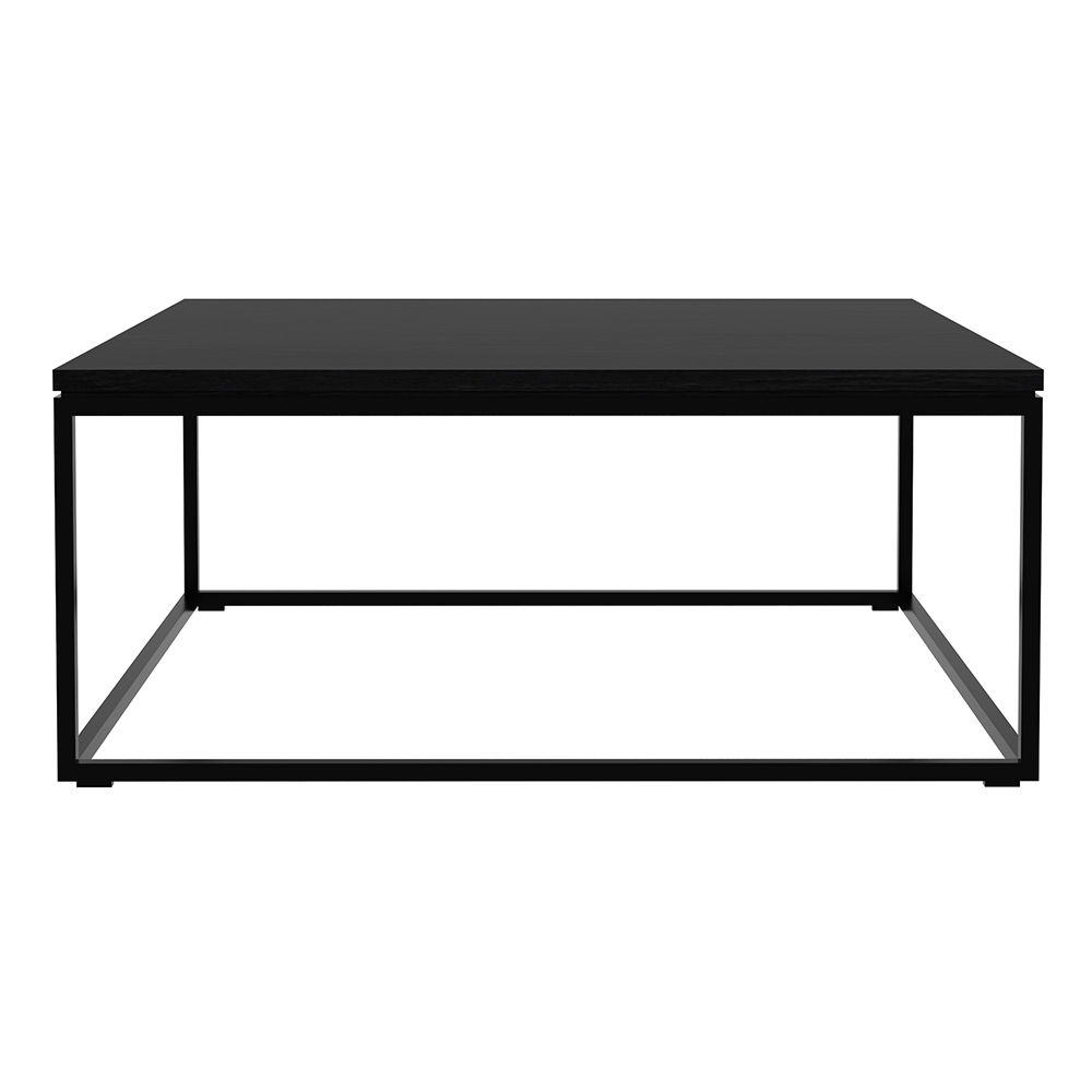 Oak Thin Coffee Table Black