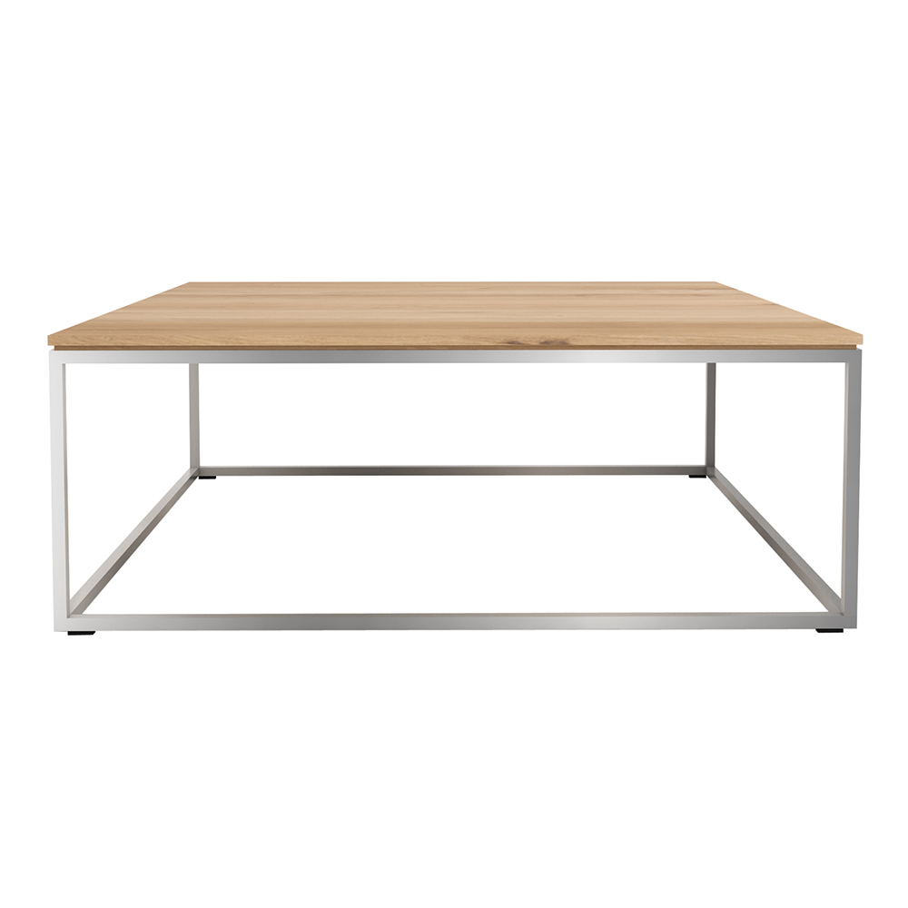 Oak Coffee Table Stainless Steel