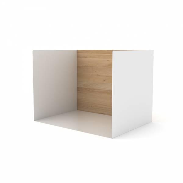 Oak U shelf S  -  White