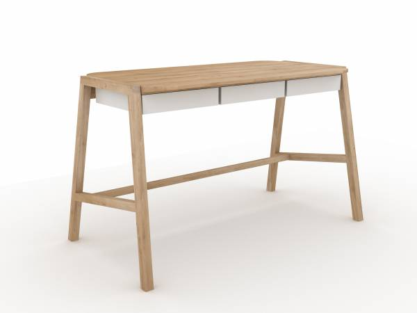 Oak Verso desk - White