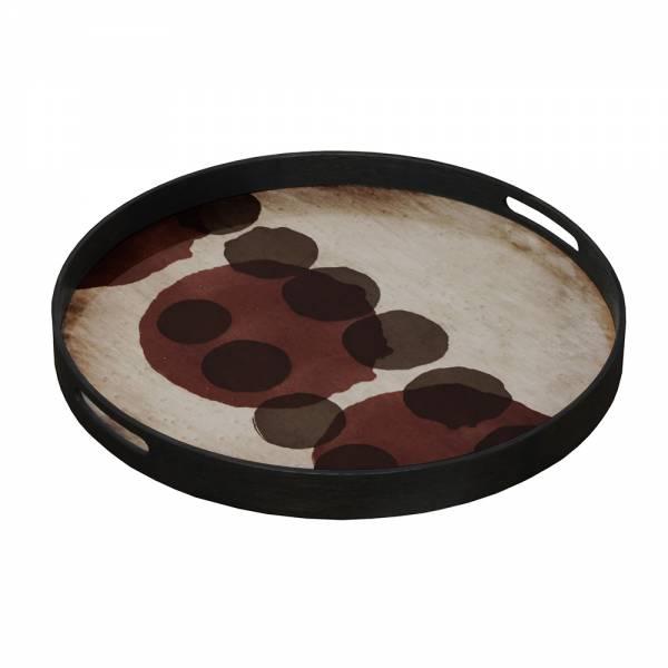 Pinot Layered Dots Glass Tray