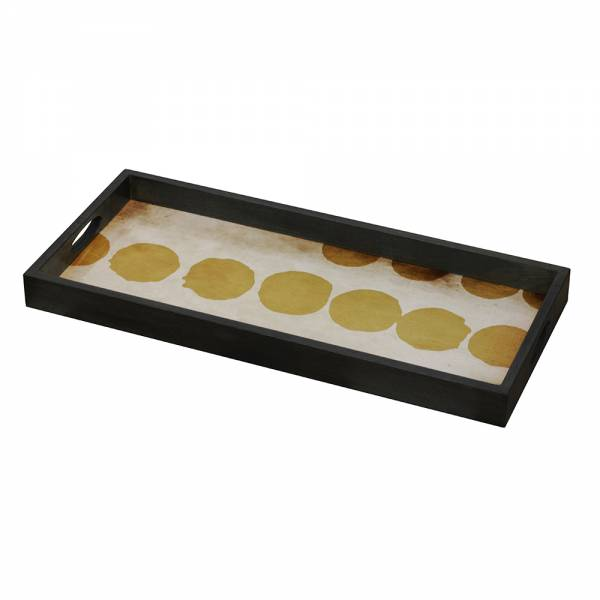 Sienna Dots Glass Tray