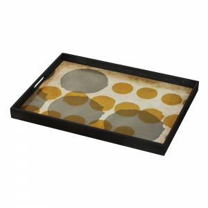Sienna Layered Dots Glass Tray