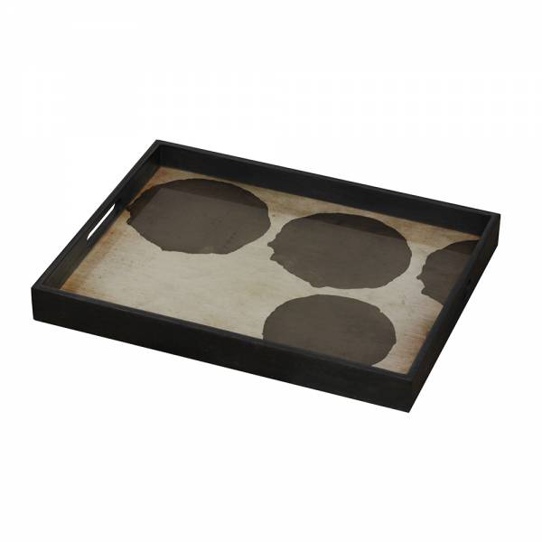 Silver Dots Glass Tray