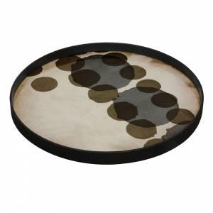 Slate Layered Dots Glass Tray
