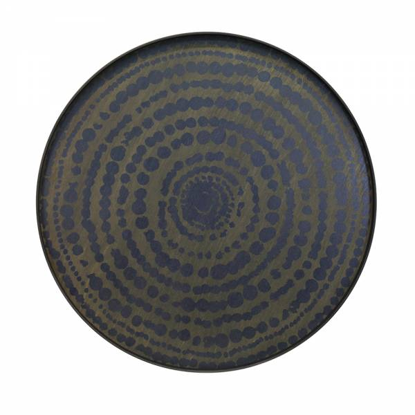 Stained Beaded Circle-Midnight Blue