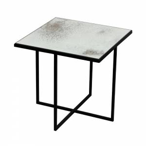Surface Coffee Table-Metallic Bronze-Heavy Aged Mirror