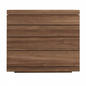 Teak Burger chest of drawers - 4 drawers - FSC 100%