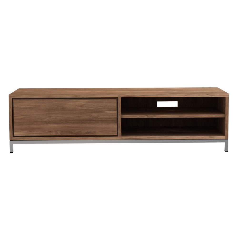 Teak Essential TV Cupboard   1 Drawer   FSC 100%