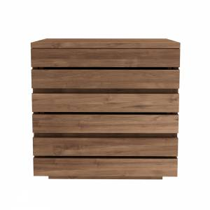 Teak Horizon bedside table - 3 drawers - FSC 100%