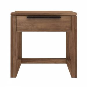 Teak Light Frame bedside table - 1 drawer - FSC 100%