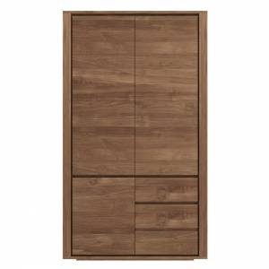 Teak Shadow dresser - 3 doors - 2 drawers - FSC 100%