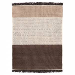 Tres Stripes Rug - Chocolate