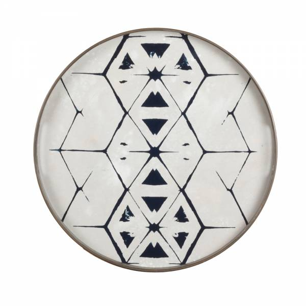 Tribal Hexagon Mirror Tray