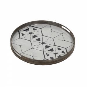 Tribal Hexagon Mirror Tray