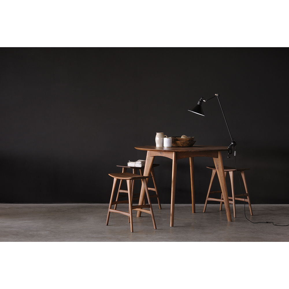 Osso Round Dining Table High Walnut