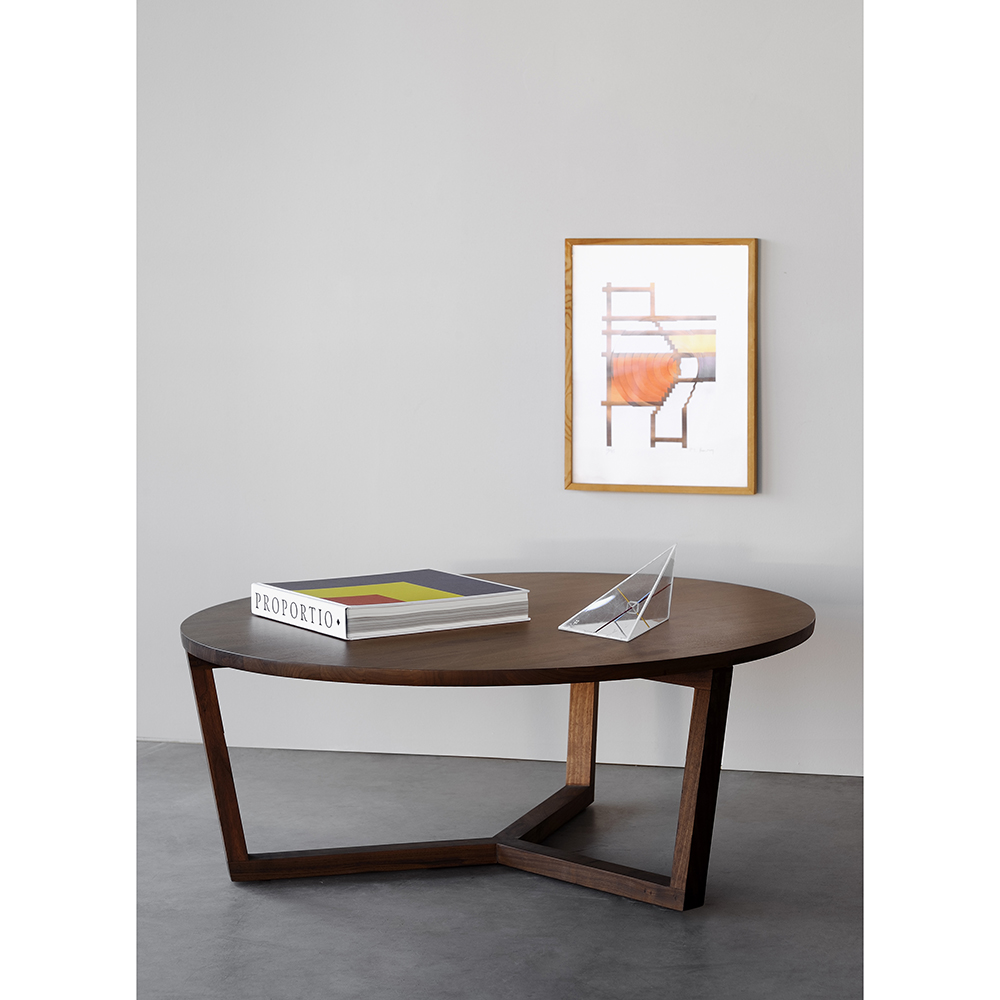 Merveilleux Walnut Tripod Coffee Table
