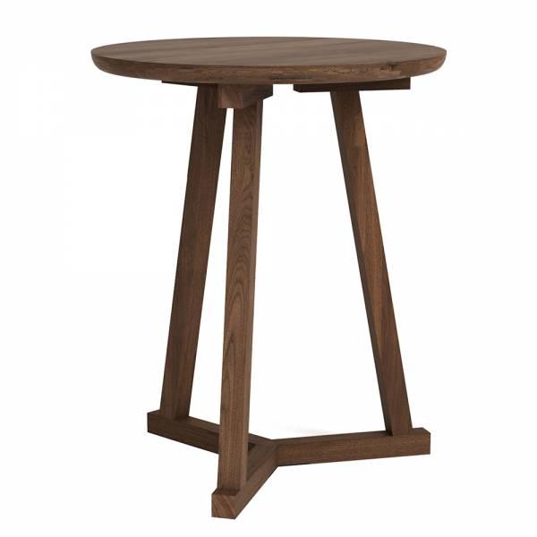 Walnut Tripod side table